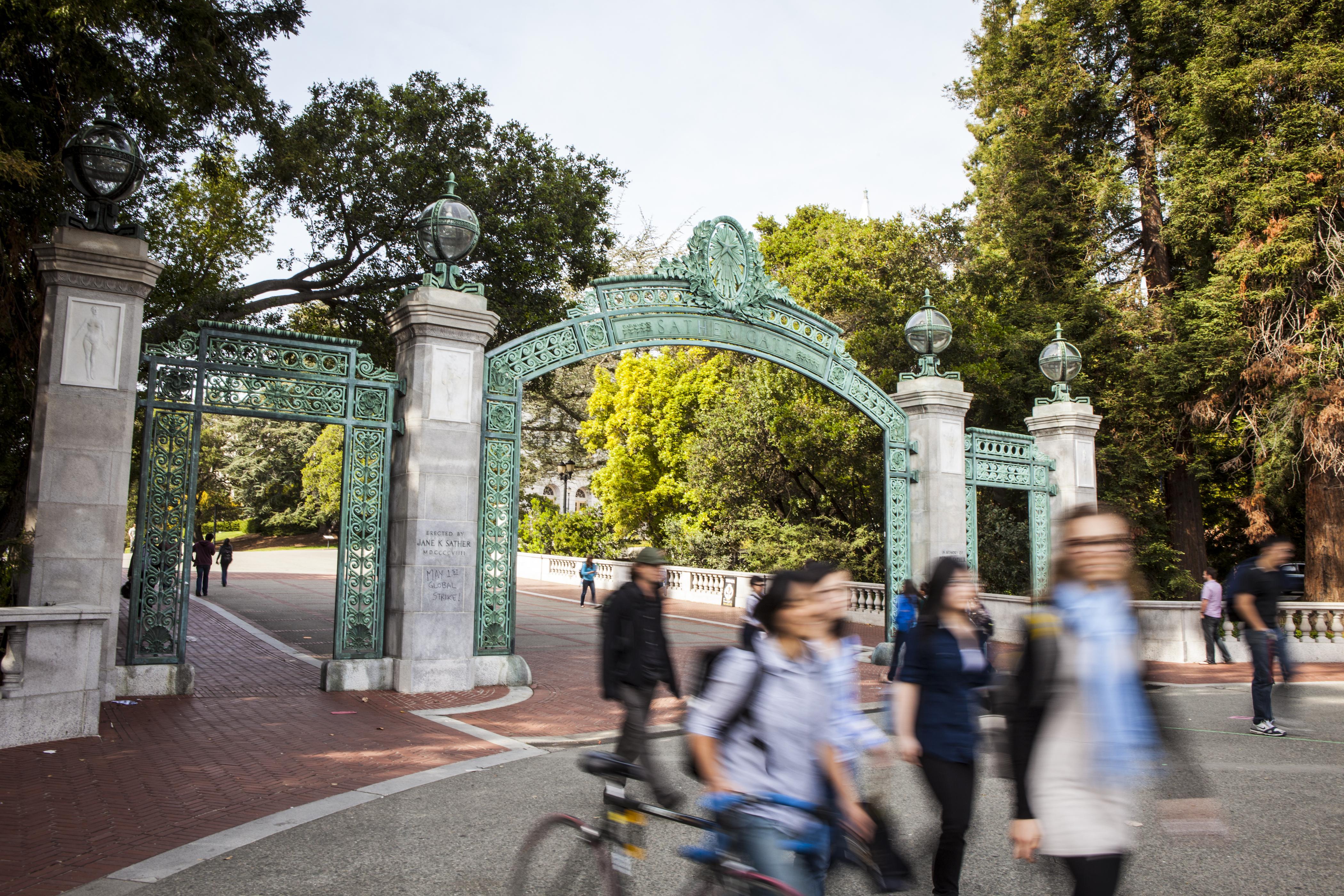On campus at UC Berkeley