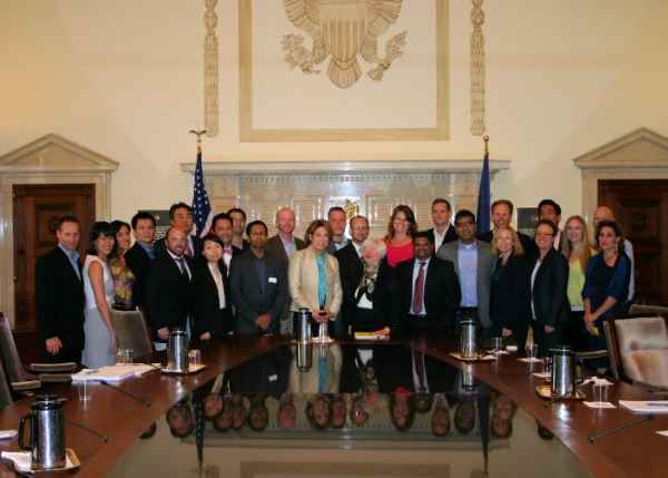 EMBA students with Fed Chair Janet Yellen during DC Immersion