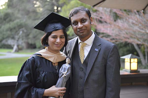 Berkeley MBA for Executives grad Nupur Thakur and Evening & Weekend MBA student Manish Mukherjee