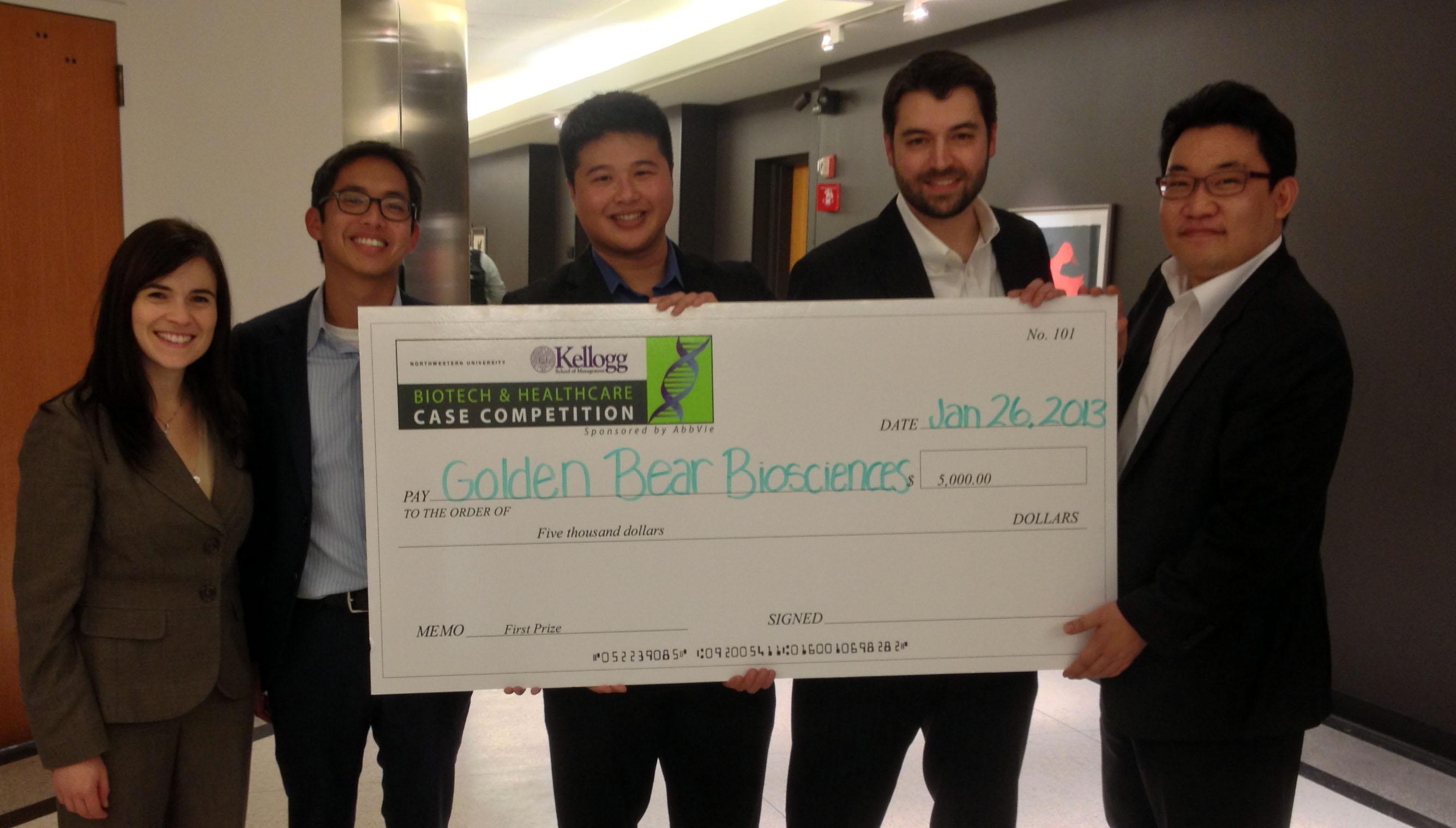 Kellogg biotech first place team