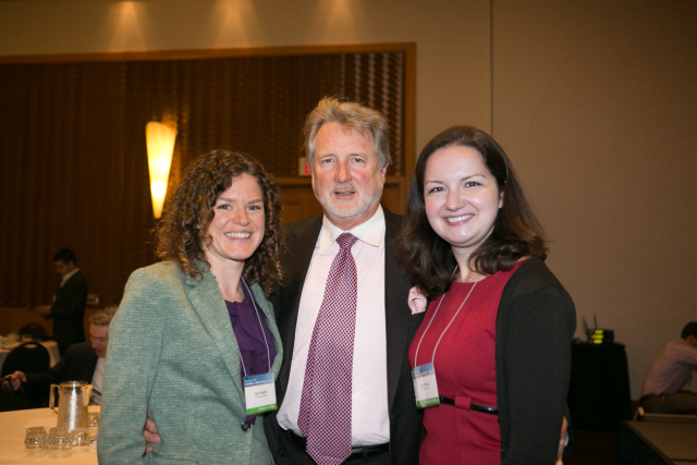 Conference Co-Chairs Tara English and Darya Rose with Steve Burrill