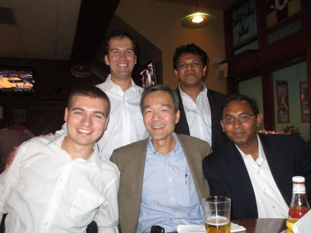 …while members of Team Gold were feeling even better at the post-pitch celebration, here with judge Minder Cheng.