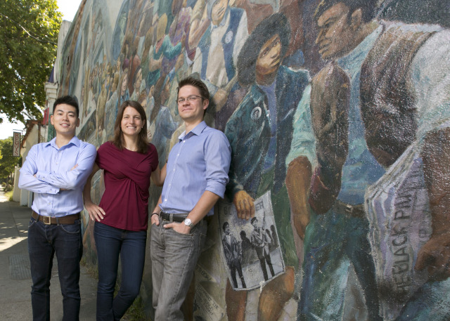 Louis Li, Sarah Walker, and Dmitar Goulev appled MBA knowledge to a real-world real estate development challenge on Telegraph Ave.