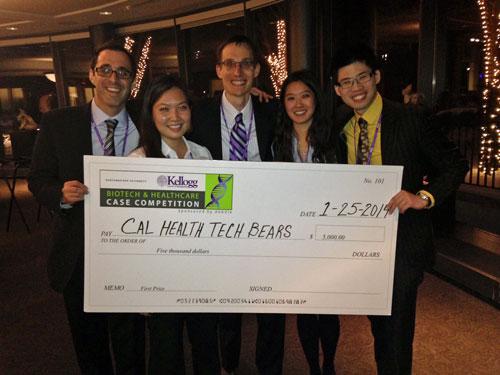 Winning at Kellogg: Eric Fishcer, Emily Mou, David Kagan, Jennifer Wong, Champ