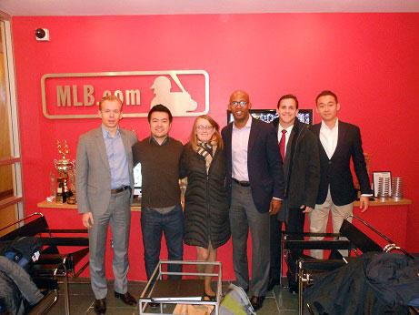 Students at Major League Baseball.com: Peter Garai, Albert Cheng, Juan De Jesus,  Anne Lewandowski, Juan De Jesus, Brandon Doll, and Ryo Itoh.