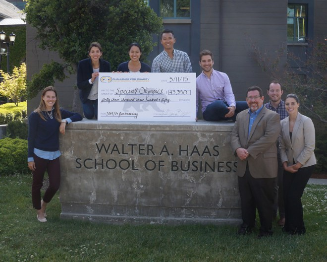 Full-time MBA C4C leaders presented a $43,000 check to Special Olympics of Northern California CEO Rick Collett last month.