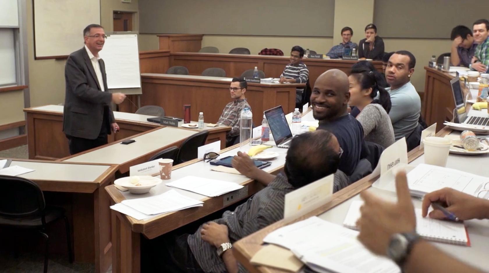 In a Berkeley MBA class