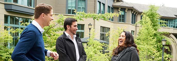 Berkeley executive MBA students on campus
