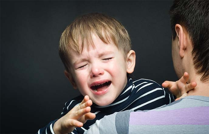 Parent with Crying Child