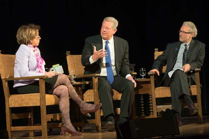 Former VP of the United States Al Gore addresses Berkeley MBA students