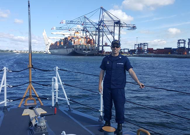 U.S. Coast Guard veteran and Evening & Weekend MBA student Andrew Price