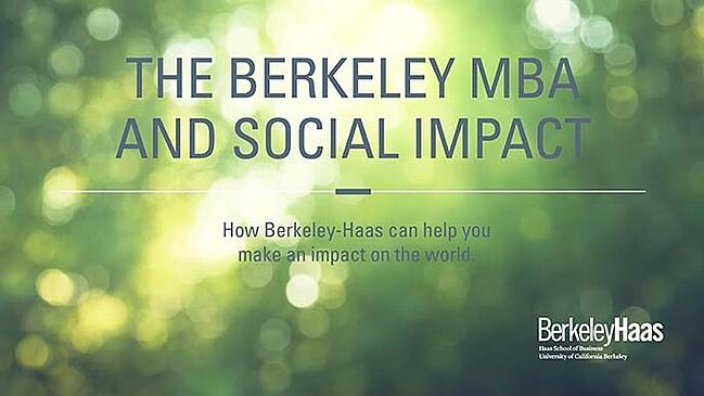 The Berkeley MBA and Social Impact ebook cover