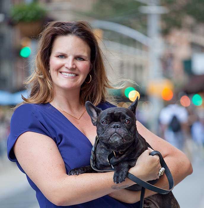Vet Set Co-Founder Taylor Truitt with her dog Noah