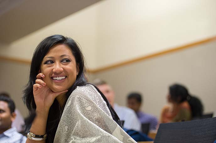 Berkeley MBA for Executives students in class