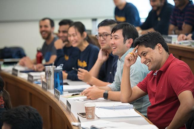 Berkeley Haas Evening & Weekend MBA students