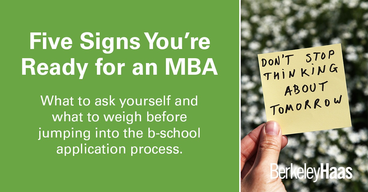 Five Signs You're Ready for an MBA
