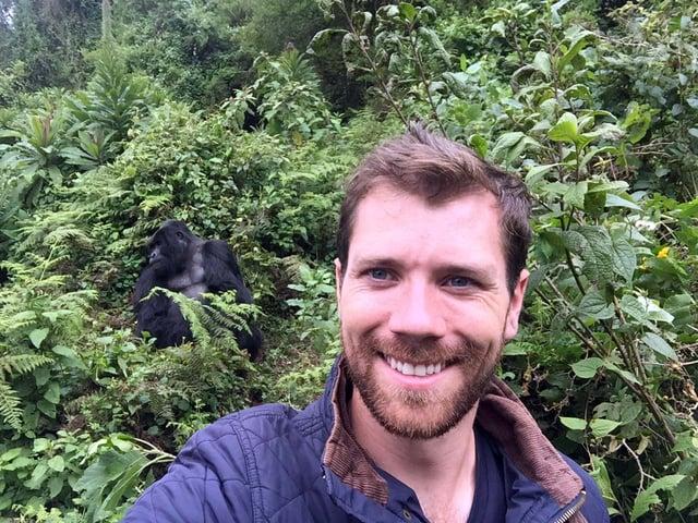 Berkeley MBA student George Roche in Rwanda