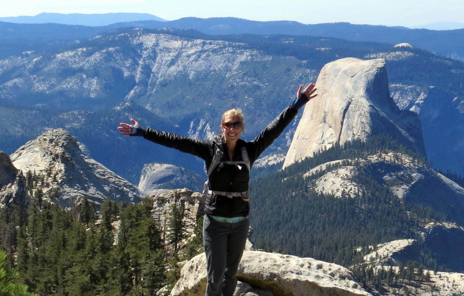 Berkeley MBA student Christie Howe in Yosemit
