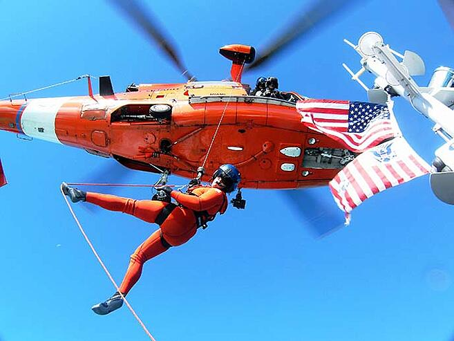 Berkeley MBA student and US Coast Guard search and rescue pilot Kelly Deutermann
