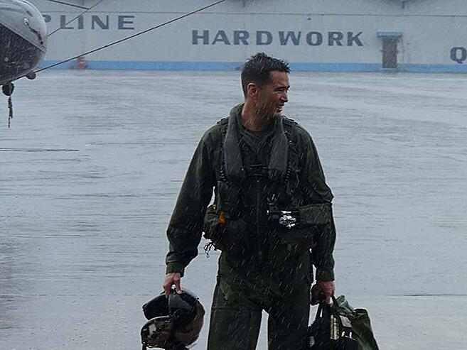 Berkeley MBA student and former US Marine helicopter pilot Mike Christman