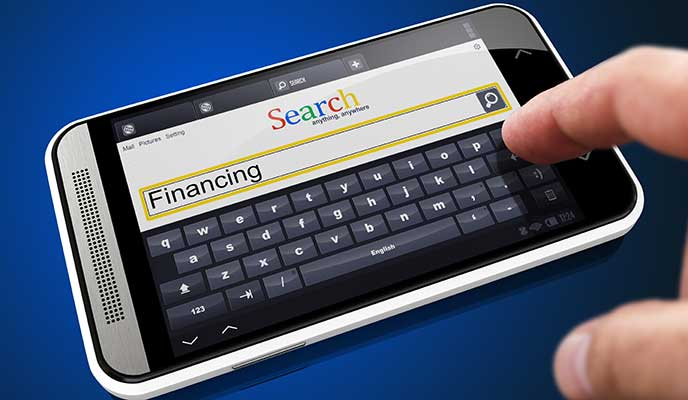 Financing search on smart phone