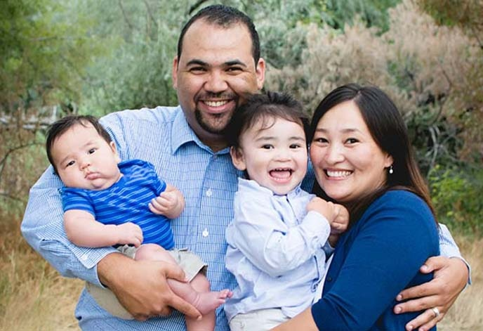Berkeley MBA George James with family
