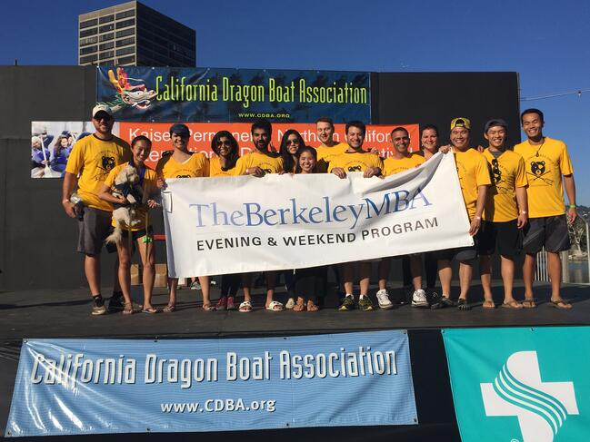 The Haas Dragon Boat Team