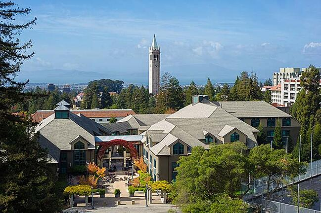 Haas Campus with UC Berkeley Campanile
