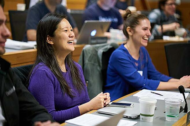 Berkeley executive MBA students in class