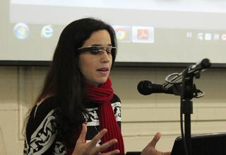 Kira, in Google Glasses, speaks about wearables in Argentina.jpg