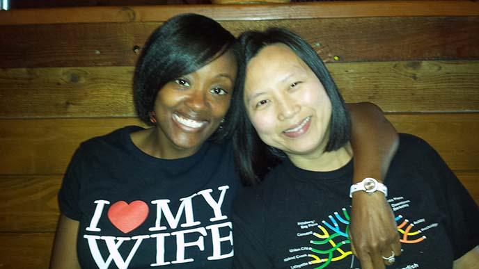 Berkeley MBA for Executives student Kriya Chantalat and wife Nina Washington