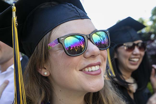 MBA ROI commencement shot