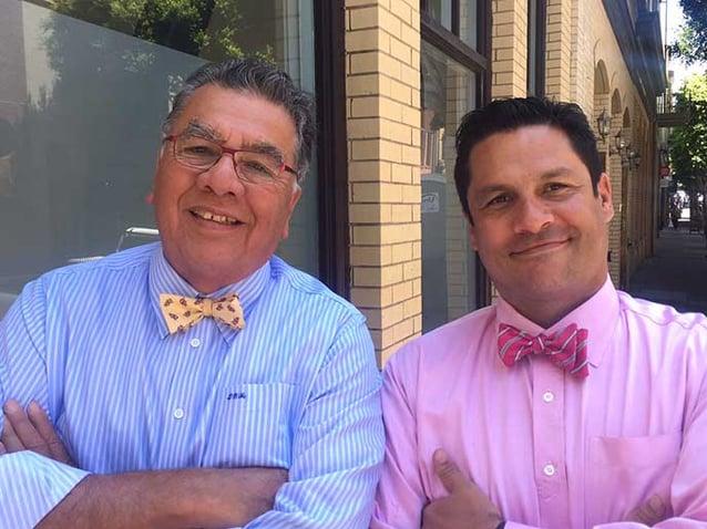 Berkeley-Haas students Dave Martinez Sr., and Jr.