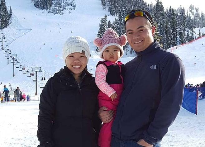 Berkeley Evening & Weekend MBA student Matt Wong and family