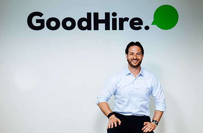 Berkeley MBA alum Max Wesman, senior director of product for Goodhire
