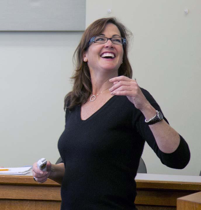 Haas faculty member Kellie McElhaney
