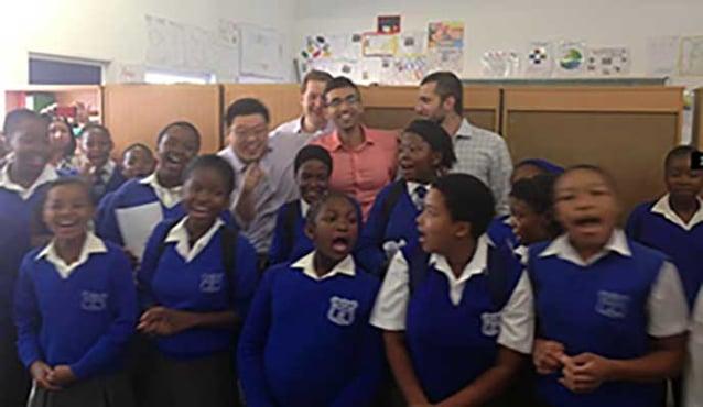 School children inspired Berkeley EWMBA students in South Africa