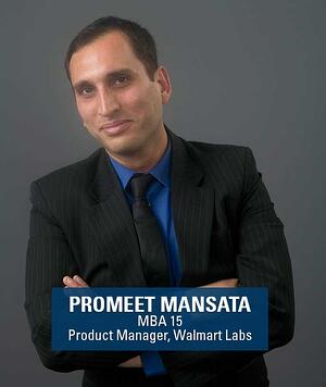 Berkeley MBA alum and product manager Promeet Mansata