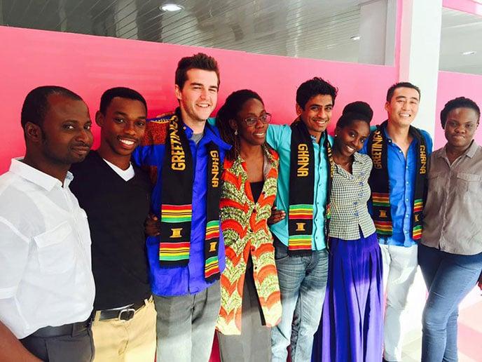 Berkeley MBA students in Ghana