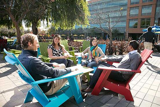Berkeley EMBA students at Google