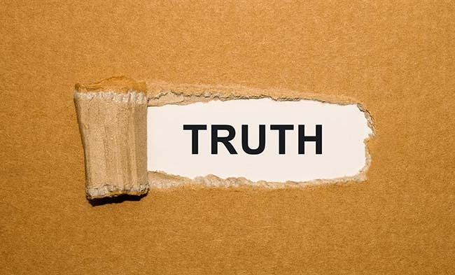 Truth torn paper sized for blog
