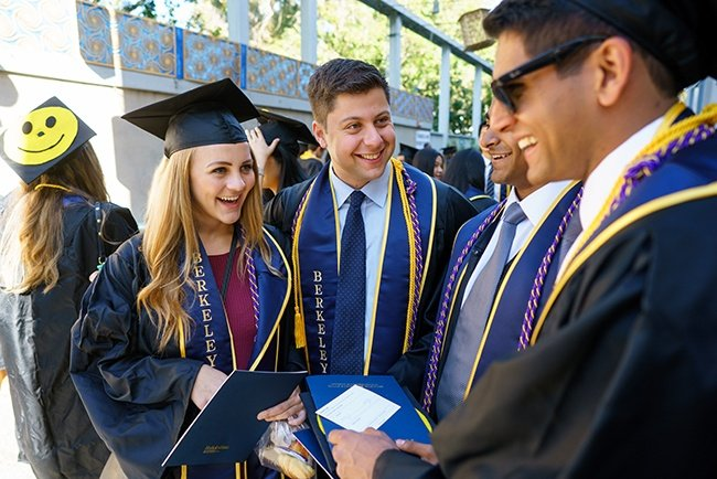 Haas Graduates after Commencement